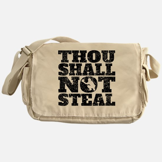 Thou Shall Not Steal Baseball Catcher Messenger Ba
