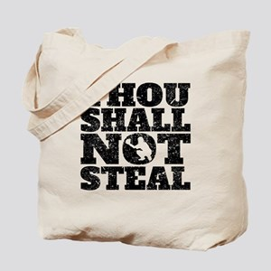 Thou Shall Not Steal Baseball Catcher Tote Bag