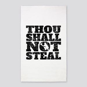 Thou Shall Not Steal Baseball Catcher Area Rug