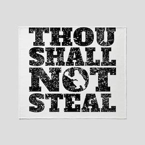 Thou Shall Not Steal Baseball Catcher Throw Blanke