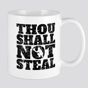 Thou Shall Not Steal Baseball Catcher Mugs
