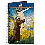 Saint Francis Embraces Jesus On Cross #2 Journal
