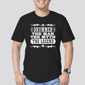 Drummer The Man The My Men's Fitted T-Shirt (dark)