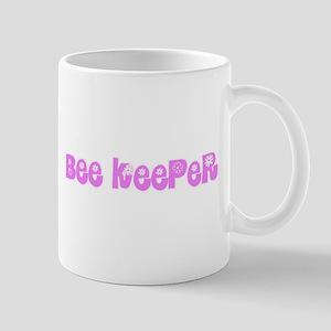 Bee Keeper Pink Flower Design Mugs