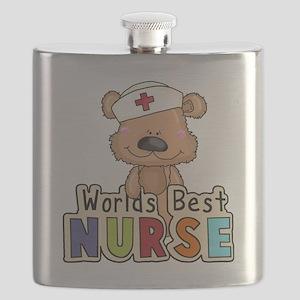 The World's Best Nurse Flask