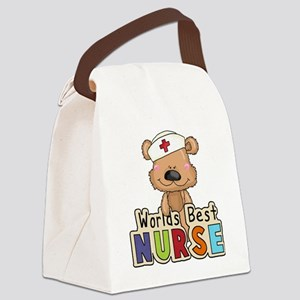 The World's Best Nurse Canvas Lunch Bag