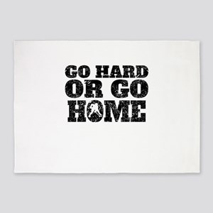 Go Hard Or Go Home Hockey 5'x7'Area Rug