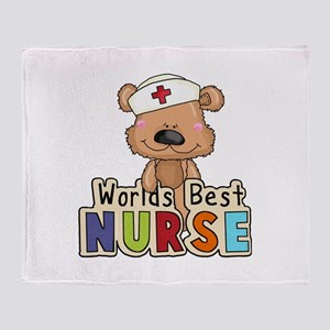The World's Best Nurse Throw Blanket