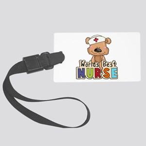The World's Best Nurse Large Luggage Tag