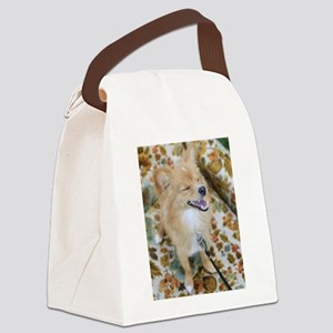 Laughing Dog Canvas Lunch Bag