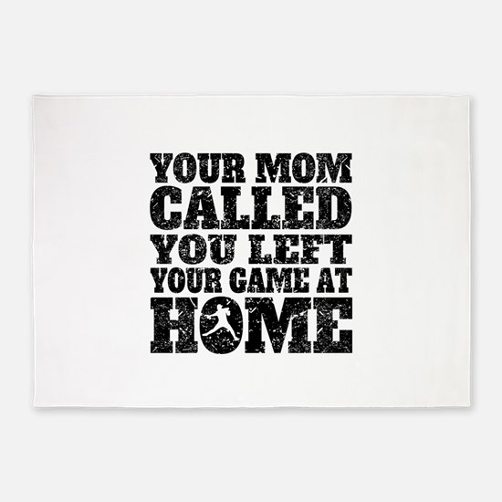 You Left Your Game At Home Baseball 5x7Area Rug