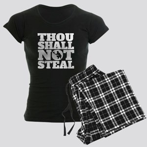 Thou Shall Not Steal Baseball Catcher Pajamas