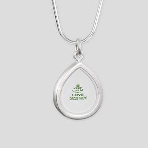 Keep calm and love Discu Silver Teardrop Necklace