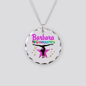 TUMBLING QUEEN Necklace Circle Charm