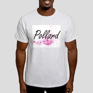 Pollard surname artistic design with Flowe T-Shirt
