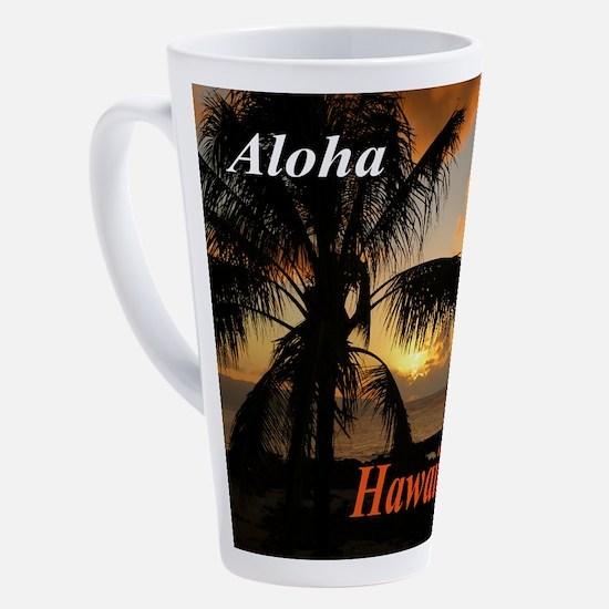 Sunset North Shore Oahu 17 oz Latte Mug