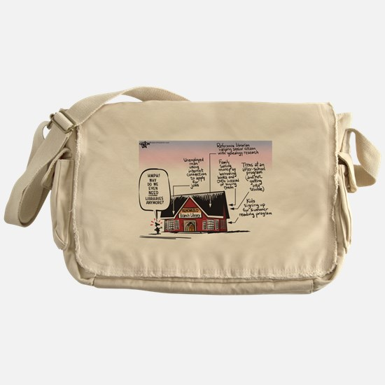 Why do even need libraries? Messenger Bag