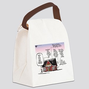 Why do even need libraries? Canvas Lunch Bag