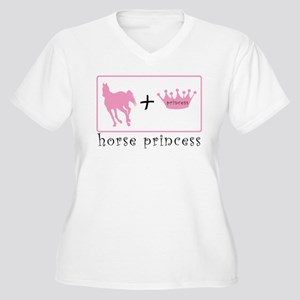 Horse Princess Equation Design Plus Size T-Shirt