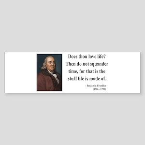 Benjamin Franklin 14 Bumper Sticker