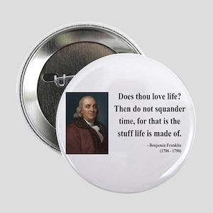 "Benjamin Franklin 14 2.25"" Button"
