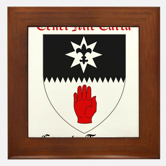 Cenel Mic Earca - County Tyrone Framed Tile