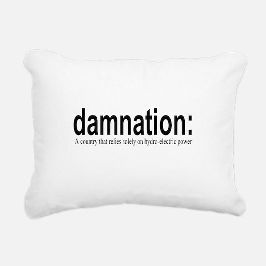 damnation Rectangular Canvas Pillow