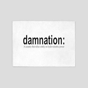 damnation 5'x7'Area Rug