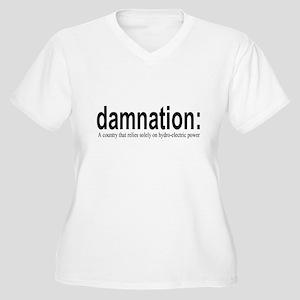 damnation Women's Plus Size V-Neck T-Shirt