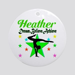 GYMNAST CHAMP Round Ornament