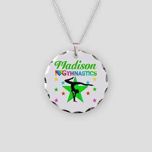 GYMNAST CHAMP Necklace Circle Charm