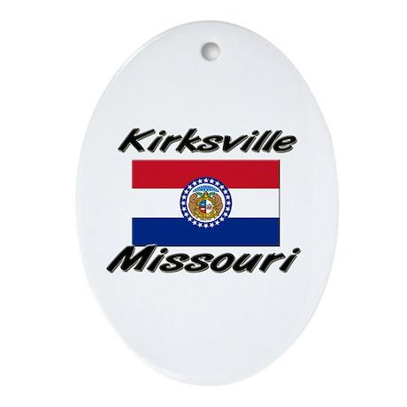 Kirksville Missouri Oval Ornament