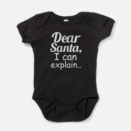 Dear Santa I Can Explain Funny Kids Baby Bodysuit