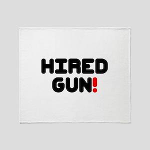 HIRED GUN!- Throw Blanket