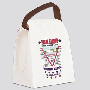 PEARL HARBOR DECEMBER 7, 1941 Canvas Lunch Bag