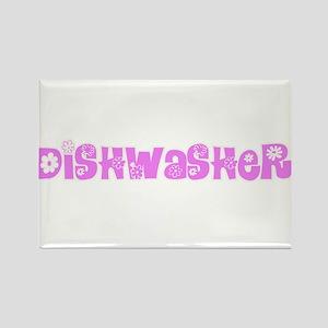 Dishwasher Pink Flower Design Magnets
