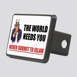 Uncle San Against Islam Rectangular Hitch Cover