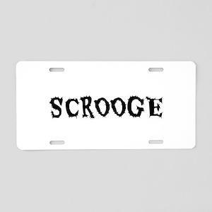 Scrooge Aluminum License Plate