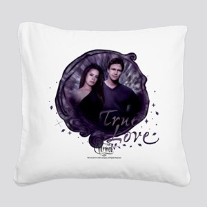 Charmed: True Love Square Canvas Pillow