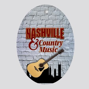 Nashville & Country Music-SG5-01 Oval Ornament