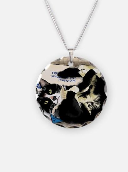 Unique Tuxedo cat Necklace