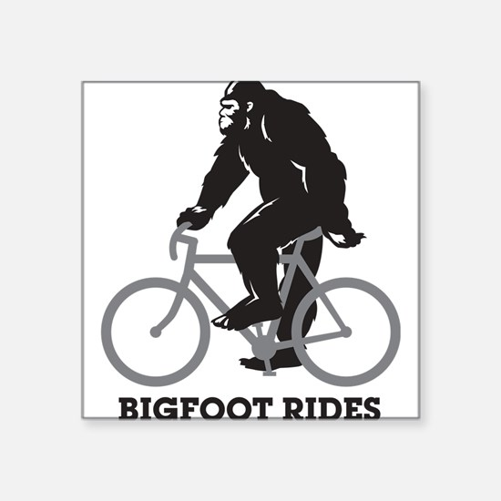 "Cool Mountain bikers Square Sticker 3"" x 3"""