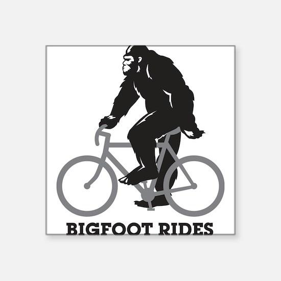 """Cute Road bike Square Sticker 3"""" x 3"""""""