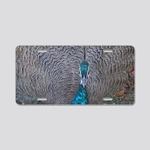 Peacock Learning To Dance Aluminum License Plate