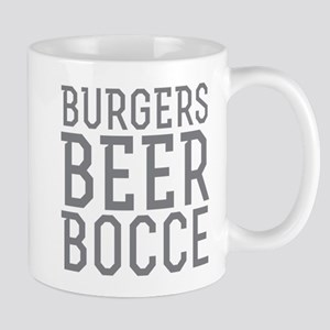 Burgers Beer Bocce Mugs