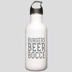 Burgers Beer Bocce Stainless Water Bottle 1.0L