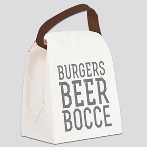 Burgers Beer Bocce Canvas Lunch Bag