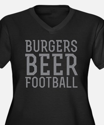 Burgers Beer Football Plus Size T-Shirt