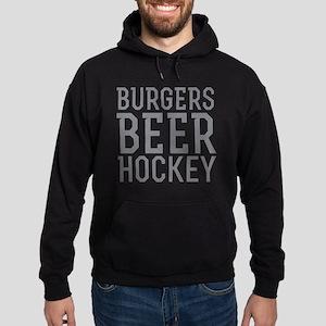 Burgers Beer Hockey Hoodie (dark)