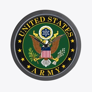 U.S. Army Symbol Wall Clock